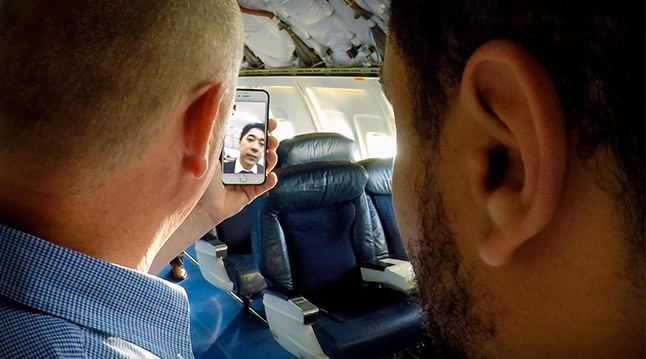Guests onboard the GX Aviation global flight tour were able to stream videos, check social media and emails, video-call and more