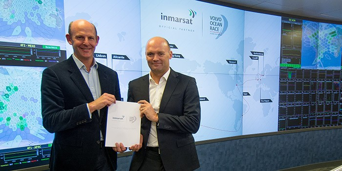Rupert Pearce, CEO, Inmarsat and Mark Turner, CEO, Volvo Ocean Race