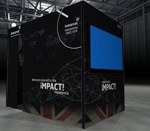 Inmarsat stand at UK Space Conference 2019
